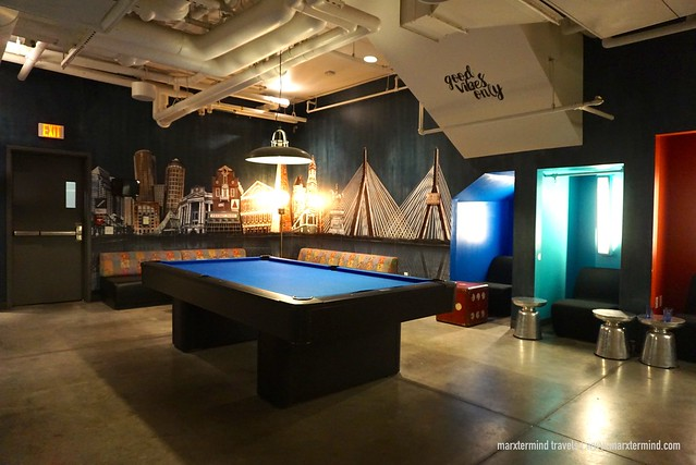 HI Boston Hostel Pool Table