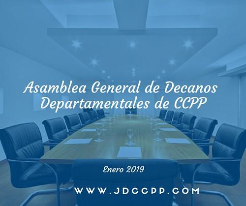 Asamblea General de Decanos Departamentales de CCPP