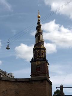 Spiral tower in Copenhagen, Denmark