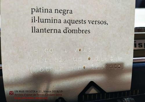 Haiku sense llum, Un mar degota n. 11, Ferran Cerdans Serra.