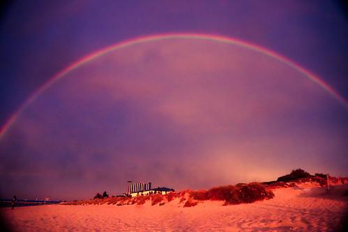 Rainbow dome over Rockingham Grain Terminal