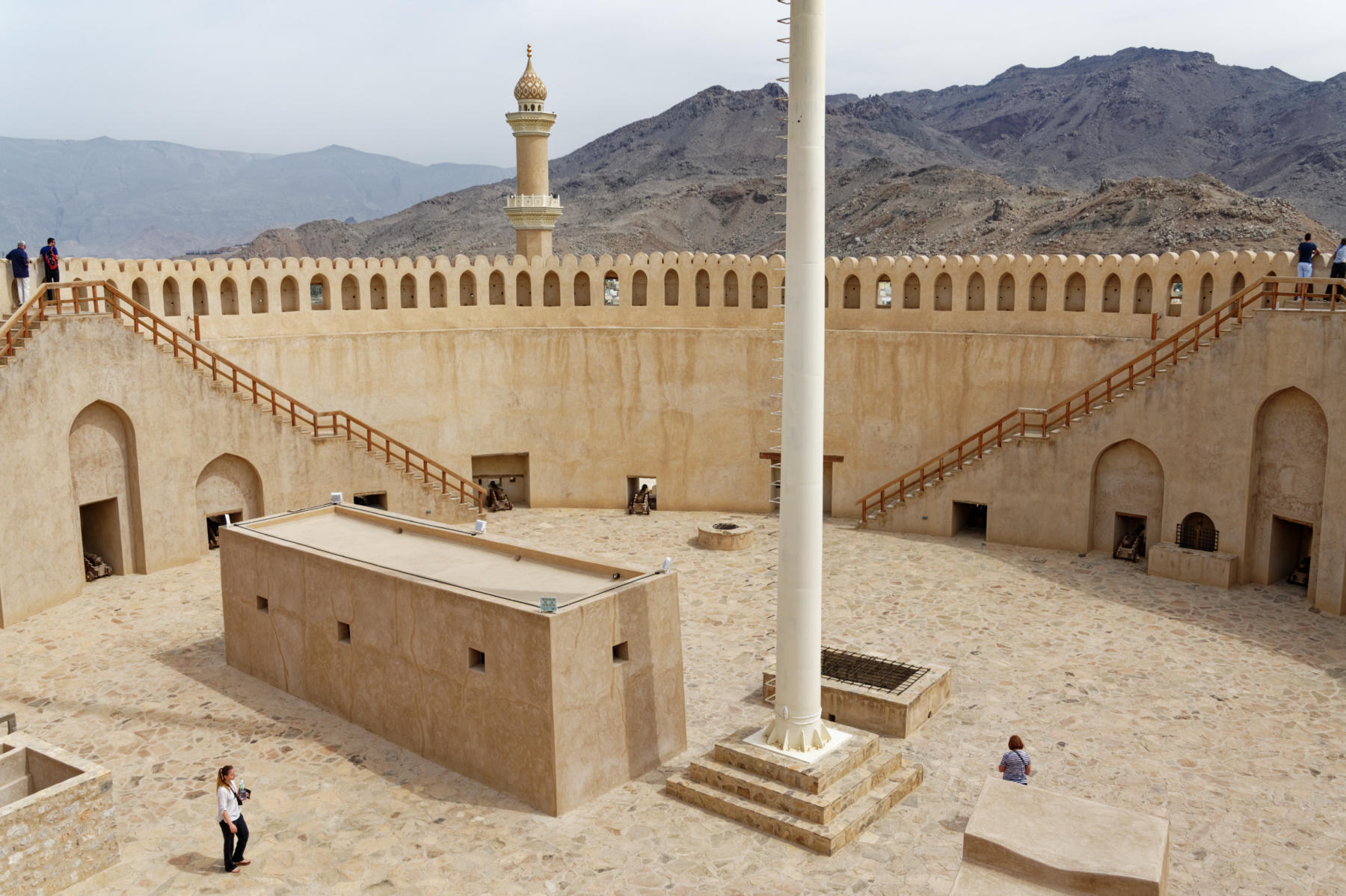 The roof of Nizwa Fort