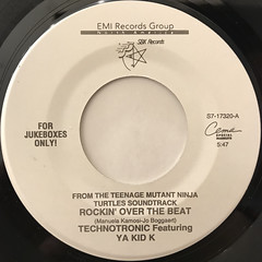TECHNOTRONIC FEATURING YA KID K:ROCKIN' OVER THE BEAT(LABEL SIDE-A)