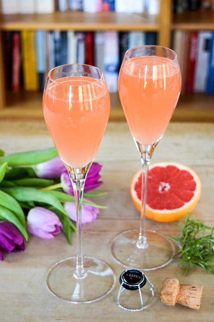 Amara Home Mothers Day Grapefruit Rosemary Mimosa