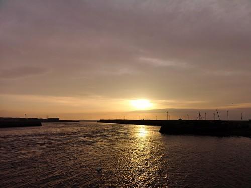 sunrise twilight morning ireland claddagh galway rivercorrib reflection quayside colour p20pro huaweip20pro cameraphone swan silhouette