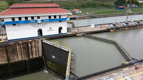 Miraflores Locks am Panama Kanal