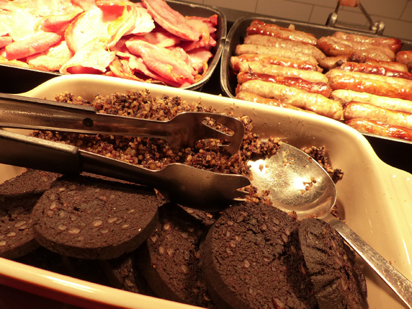 Haggis and black pudding