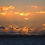 Hinter den Wolken - Sonnenuntergang - 11. Februar 2019 - Schleswig-Holstein - Deutschland