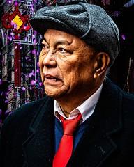 Chinese Sherlock . Shot during Sunday's New Years Parade in Chinatown, NYC . . . #deerstalkerhat #deerstalker #spectator #redtie #yearofthepig #chinatownnyc #lunarnewyear #parade #newyearparade #neyorkcity #Chinatown #chrislordnyc #chrislord #pixielatedpi