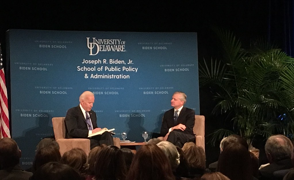 Biden hints at a 2020 candidacy at campus event