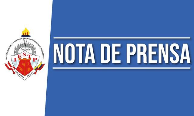 """NOTA DE PRENSA 004-II-IESTP """"SB"""""""