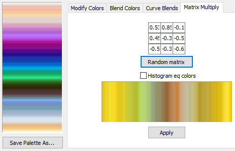 Visions of Chaos Color Palette Editor