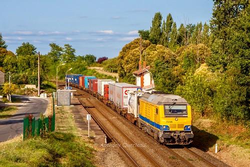 08 août 2016 BB 75106 Train Niort -> Bordeaux-Hourcade Cubzac-les-Ponts (33)