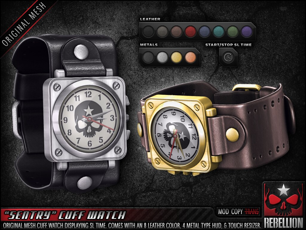 "= REBELLION = ""SENTRY"" CUFF WATCH"
