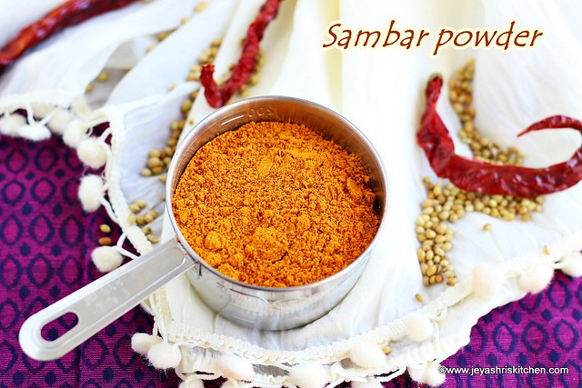Home made sambar masala
