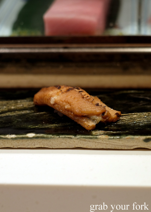 Anago sea eel sushi at the Masuya Sydney omakase