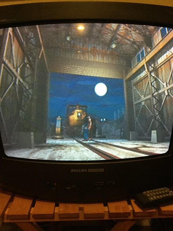RE2 moonlit train