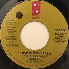 O'JAYS:I LOVE MUSIC(LABEL SIDE-B)