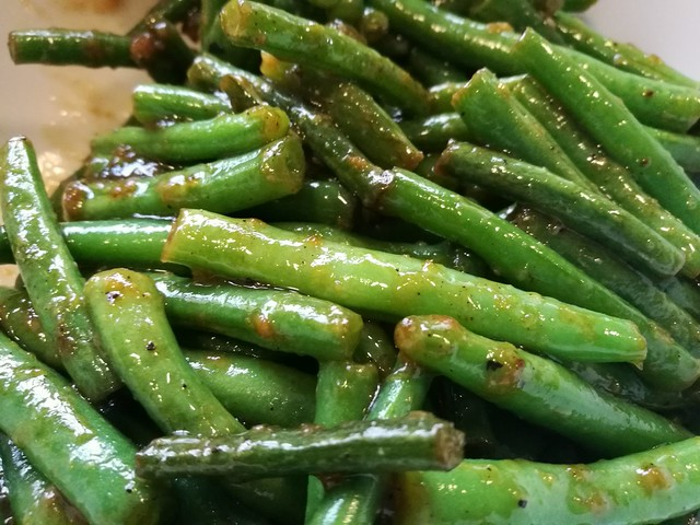 French beans with garlic