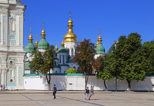 The cathedral is one of the Kiev's best known landmarks