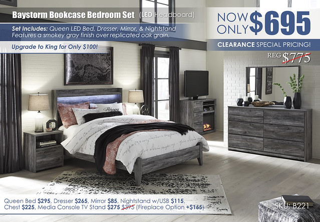 Baystorm LED Bedroom Set_B221-31-36-48-57-54-91_Fireplace