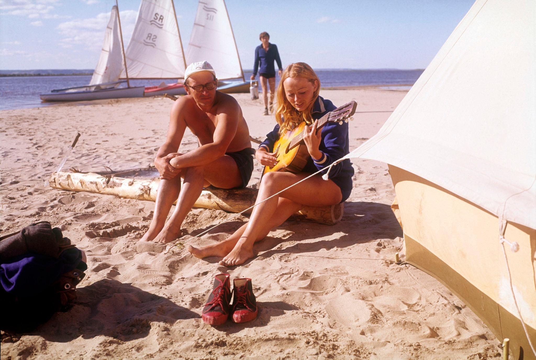 1970-е. Лена, якутское лето на пляже