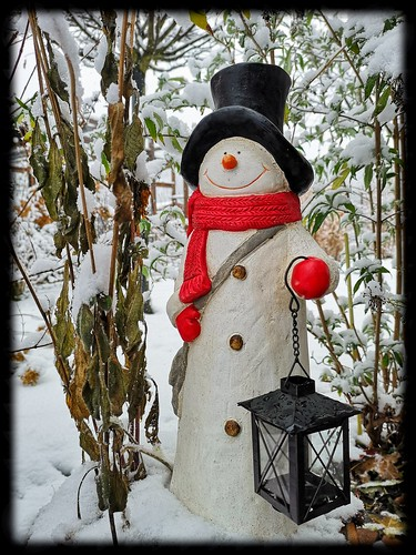 Snowman in the first snow