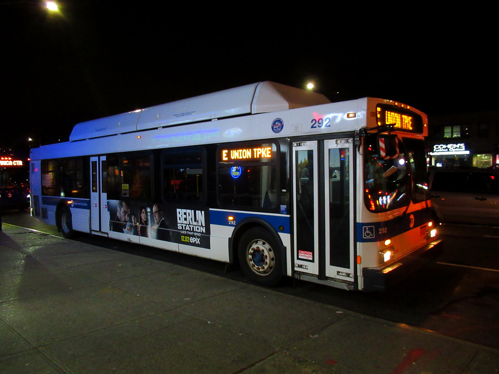 2012 New Flyer C40LF 292 on the (E) at Queens Boulevard & 78 Avenue