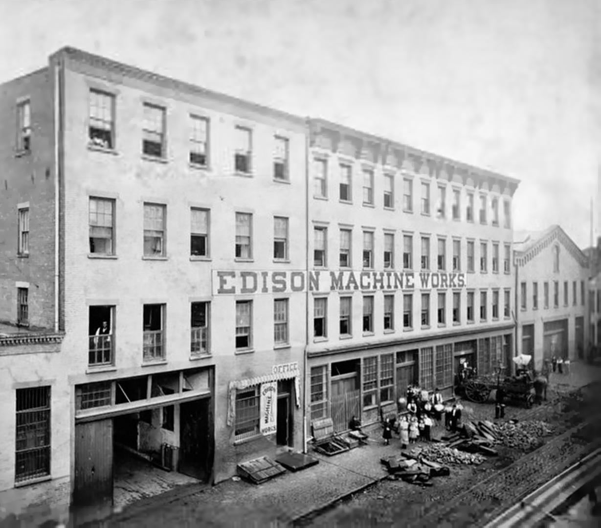 Edison Machine Works on Goerck Street in New York, 1881