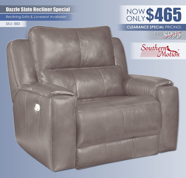 Dazzle Slate Recliner Clearance Special_883
