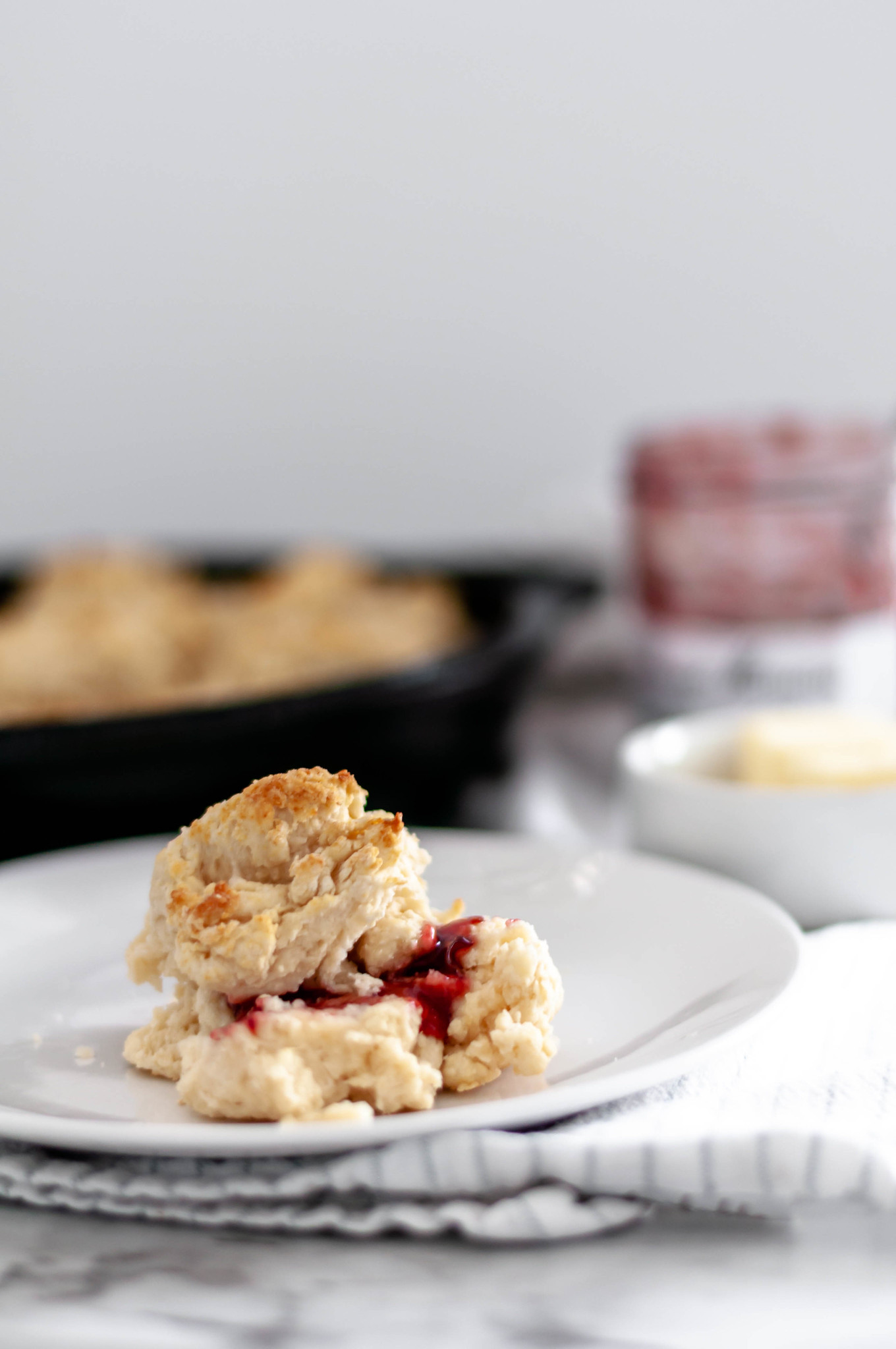 Skillet Drop Biscuits are so simple to make and can be made and baked in less than 30 minutes making them perfect for weeknight meals.