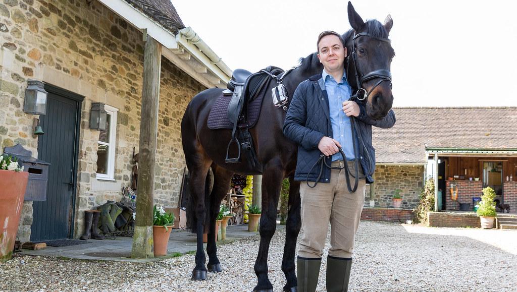 Dr Ben Metcalfe with horse.