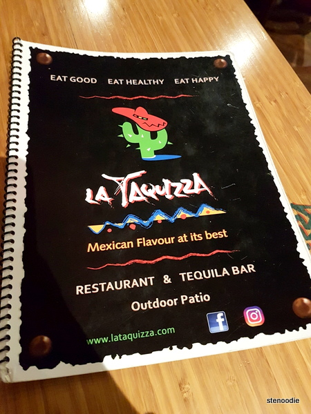 La Taquizza menu cover