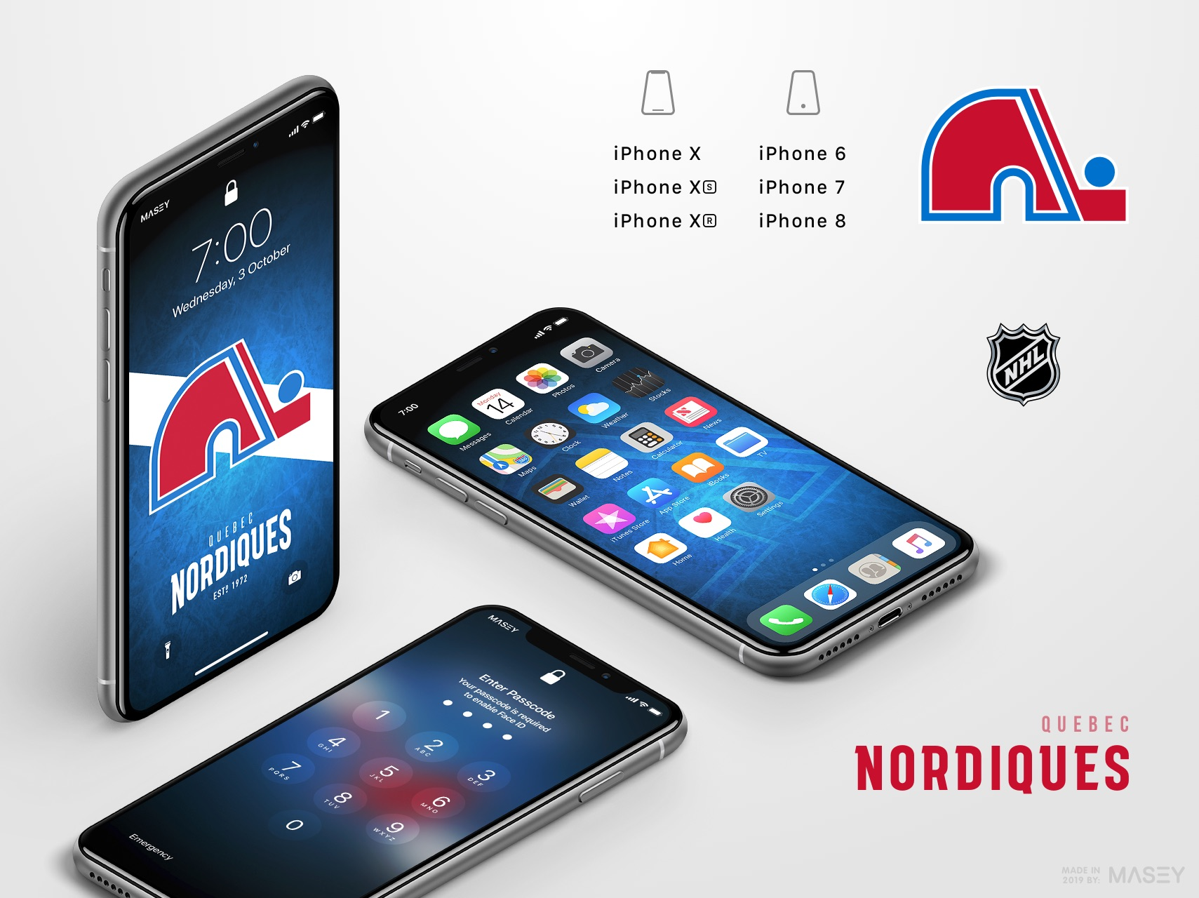 Quebec Nordiques iPhone Wallpaper