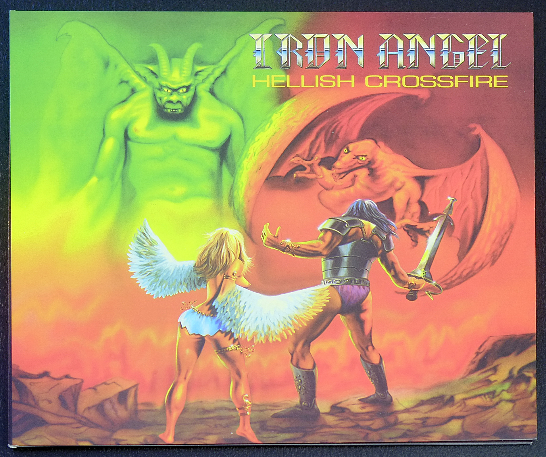"IRON ANGEL Hellish Crossfire 12"" FOC LP ALBUM VINYL"