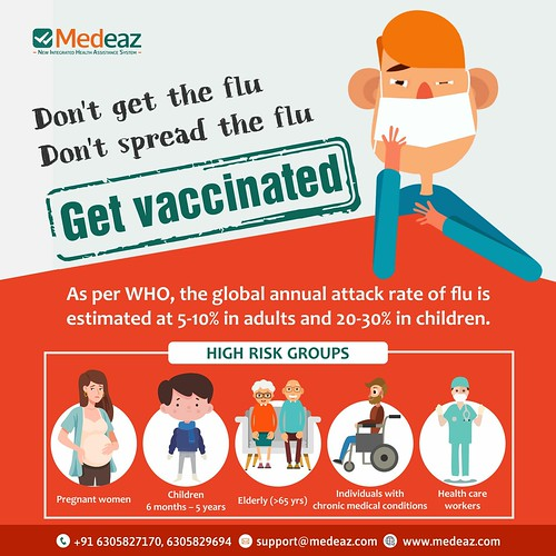 Don't get the flu Don't spread the flu Get vaccinated
