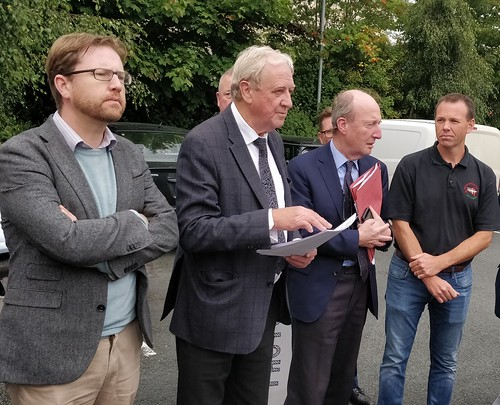 Deputy James Lawless, Cllr Gerry O'Neill, Chair N81 Action Group, Minister for Transport Shane Ross TD and Deputy John Brady