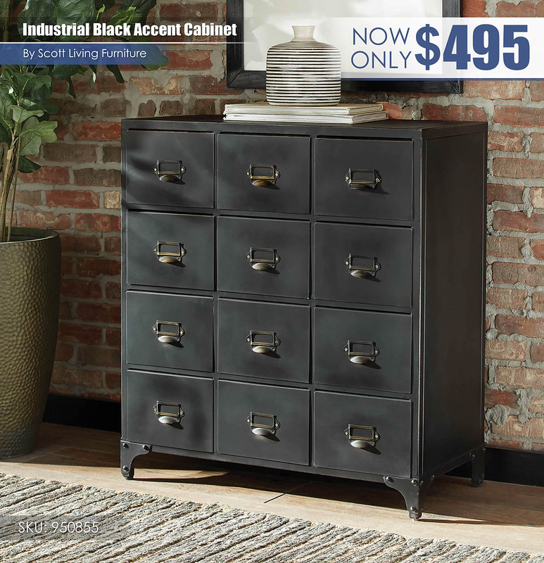 Industrial Black Accent Cabinet_Scott Living_950855