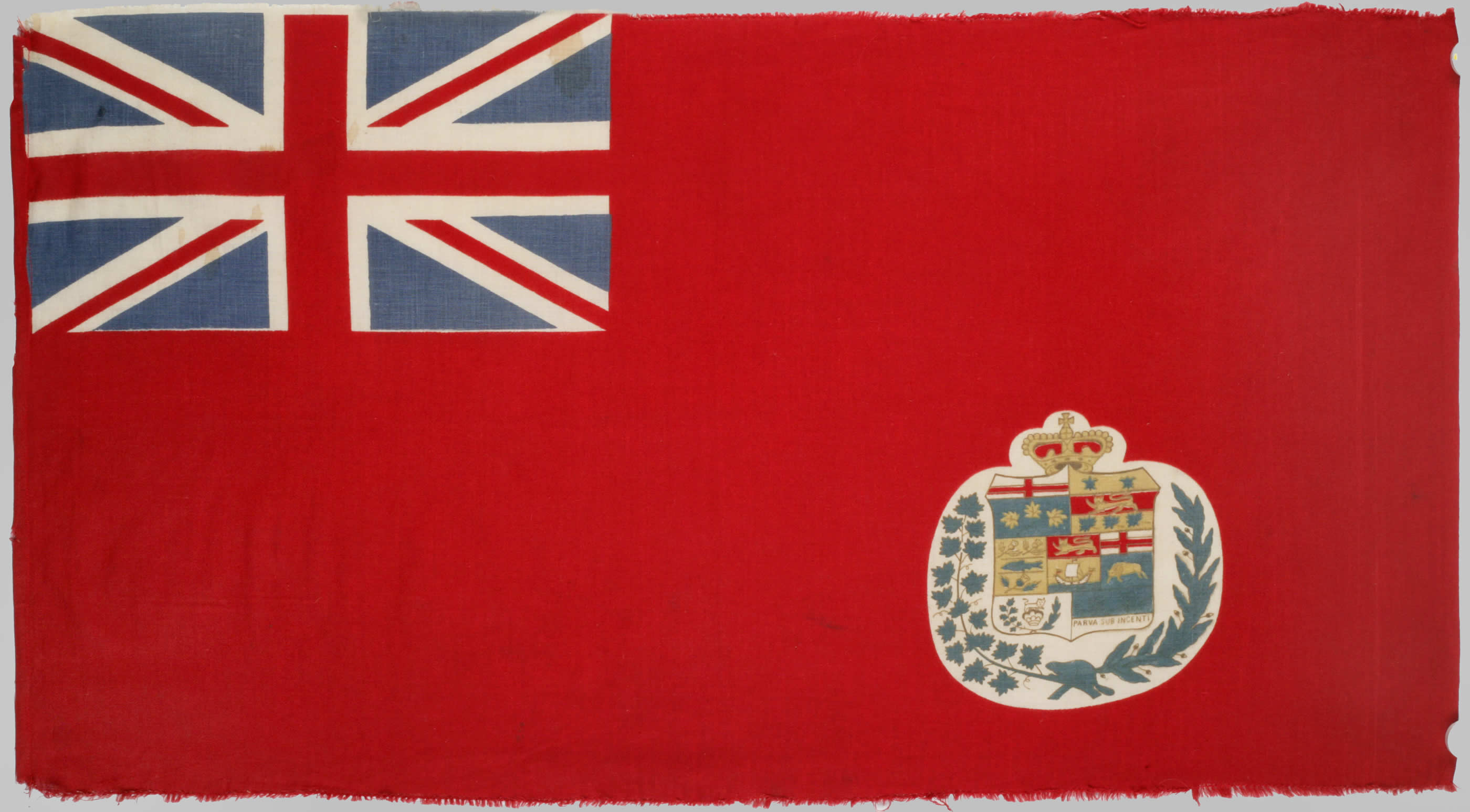 An early example of a Canadian Red Ensign, 1876