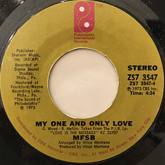 MFSB FEATURING THE THREE DEGREES:LOVE IS THE MESSAGE(LABEL SIDE-B)