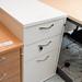 White three drawer desk high E80