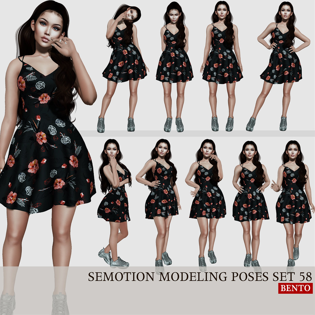 SEmotion Female Bento Modeling poses set 58