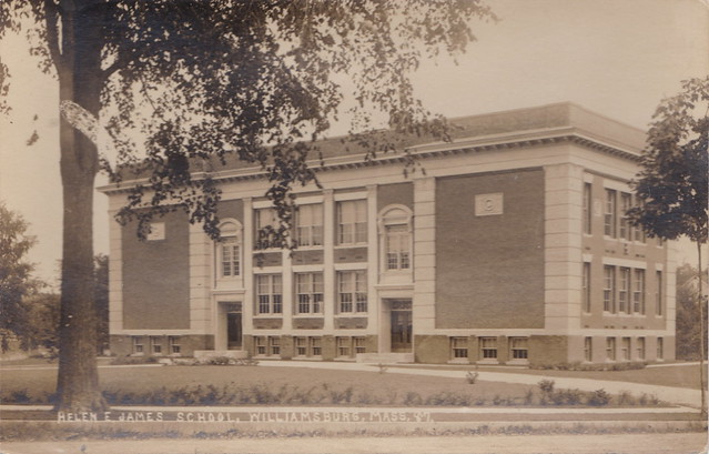 US MA Williamsburg Haydenville RPPC 1914 THE NEW HELEN JAMES SCHOOL in the Foothills of the Berkshires Photographer EASTERN ILLUSTRATING CO. Belfast ME Hampshire County Mass