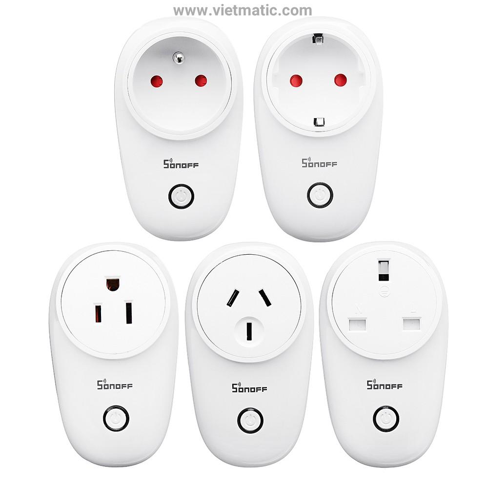 Ổ cắm điện thông minh Sonoff S26, kết nối Wifi