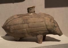 Sassanian zoomorphic Buff Ware vessel