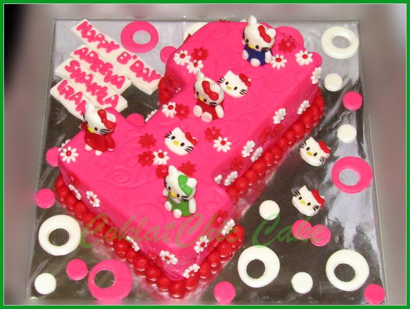 Cake Angka 1 Hello Kitty ADEEVA 15 cm