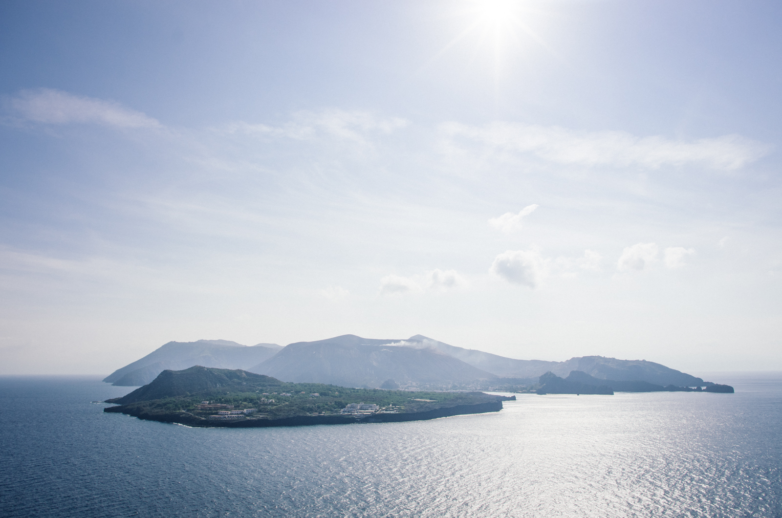 Panorama sur Vulcano - Lipari - îles éoliennes