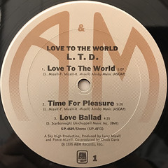 L.T.D.:LOVE TO THE WORLD(LABEL SIDE-A)