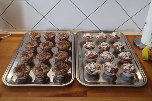 Cupcake-Buffet anlässlich meiner Geburtstagsfeier (linke Seite)