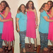 20180611 2153 - fashion show - Beth & Clio - teal shirt, blue pants, pink dress - 18532169fl-52.46-53.26c (triptych)